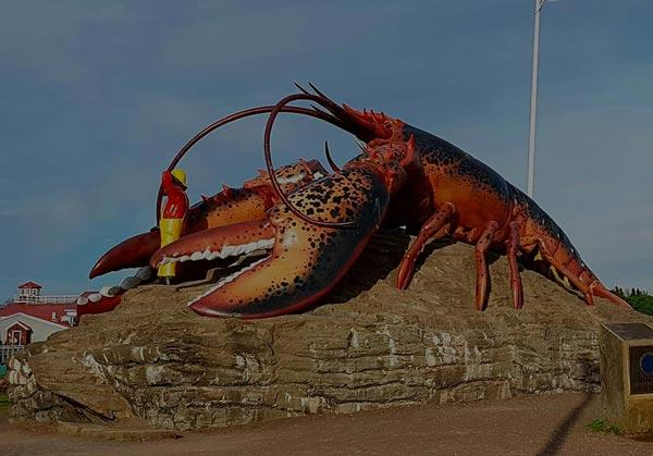 The giant lobster sculpture